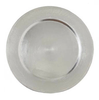 Silver - round  charger 13''