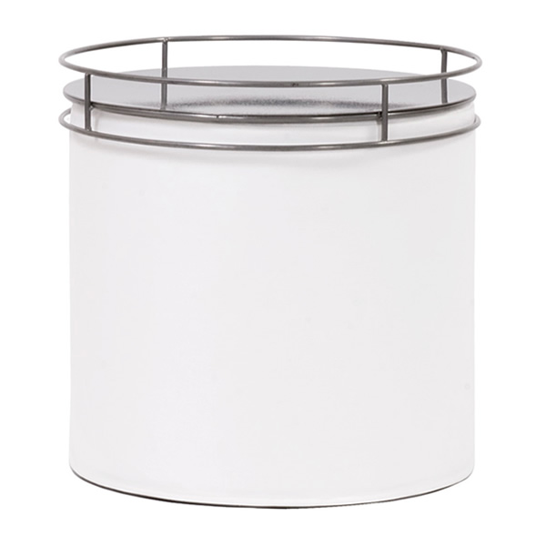 Soho White Cylinder with tray