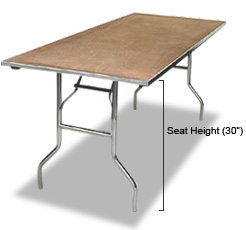 Rectangle tables – 6' x 30''